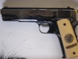 Colt 1911,World War 1 Series,4 gun set,all the same serial #2412,all engraved,in shadow boxes,unfired,custom grips,45acp,made in 1968,45 years old !! - 4 of 12