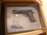 Colt 1911,World War 1 Series,4 gun set,all the same serial #2412,all engraved,in shadow boxes,unfired,custom grips,45acp,made in 1968,45 years old !! - 3 of 12