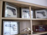 Colt 1911,World War 1 Series,4 gun set,all the same serial #2412,all engraved,in shadow boxes,unfired,custom grips,45acp,made in 1968,45 years old !! - 1 of 12