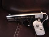 Colt 1903 Hammerless 32 caliber,fully refinished in 2014,in high gloss bright nickel,& matt nickel,1939,75 years old,Pearlite grips,awesome showpiece- 5 of 12