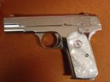 Colt 1903 Hammerless 32 caliber,fully refinished in 2014,in high gloss bright nickel,& matt nickel,1939,75 years old,Pearlite grips,awesome showpiece- 10 of 12