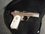 Colt 1903 Hammerless 32 caliber,fully refinished in 2014,in high gloss bright nickel,& matt nickel,1939,75 years old,Pearlite grips,awesome showpiece- 9 of 12