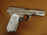 Colt 1903 Hammerless 32 caliber,fully refinished in 2014,in high gloss bright nickel,& matt nickel,1939,75 years old,Pearlite grips,awesome showpiece- 11 of 12