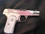 Colt 1903 Hammerless 32 caliber,fully refinished in 2014,in high gloss bright nickel,& matt nickel,1939,75 years old,Pearlite grips,awesome showpiece- 1 of 12