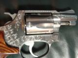 "Smith & Wesson Model 60,no dash,1969,lightly engraved,38 special,Chiefs Special,custom Rosewood grips,& original grips,2"" barrel, - 10 of 12"