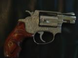 "Smith & Wesson Model 60,no dash,1969,lightly engraved,38 special,Chiefs Special,custom Rosewood grips,& original grips,2"" barrel, - 5 of 12"