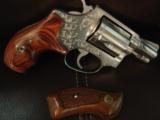 "Smith & Wesson Model 60,no dash,1969,lightly engraved,38 special,Chiefs Special,custom Rosewood grips,& original grips,2"" barrel, - 1 of 12"
