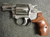 "Smith & Wesson Model 60,no dash,1969,lightly engraved,38 special,Chiefs Special,custom Rosewood grips,& original grips,2"" barrel, - 3 of 12"