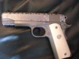 """Colt Commander Series 80,Fully engraved slide,stainless,4 1/4"""" barrel,REAL IVORY grips,45acp,in box with manual - 6 of 12"""