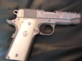 """Colt Commander Series 80,Fully engraved slide,stainless,4 1/4"""" barrel,REAL IVORY grips,45acp,in box with manual - 2 of 12"""