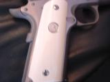 """Colt Commander Series 80,Fully engraved slide,stainless,4 1/4"""" barrel,REAL IVORY grips,45acp,in box with manual - 3 of 12"""