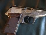 Walther PPK deep scroll engraved,nickel,9mm short/380 auto,around 50 years old,original box,2 mags,target & manual-awesome !! - 6 of 15