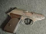 Walther PPK deep scroll engraved,nickel,9mm short/380 auto,around 50 years old,original box,2 mags,target & manual-awesome !! - 15 of 15