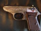 Walther PPK deep scroll engraved,nickel,9mm short/380 auto,around 50 years old,original box,2 mags,target & manual-awesome !! - 7 of 15