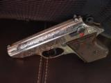 Walther PPK deep scroll engraved,nickel,9mm short/380 auto,around 50 years old,original box,2 mags,target & manual-awesome !! - 1 of 15
