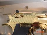 Desert Eagle/Magnum Research,50AE,Titanium Gold,high polished hand cannon,NIB,awesome showpiece !! - 5 of 15