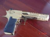 Desert Eagle/Magnum Research,50AE,Titanium Gold,high polished hand cannon,NIB,awesome showpiece !! - 14 of 15