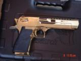 Desert Eagle/Magnum Research,50AE,Titanium Gold,high polished hand cannon,NIB,awesome showpiece !! - 12 of 15