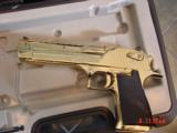 Desert Eagle/Magnum Research,50AE,Titanium Gold,high polished hand cannon,NIB,awesome showpiece !! - 2 of 15