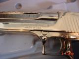 Desert Eagle/Magnum Research,50AE,Titanium Gold,high polished hand cannon,NIB,awesome showpiece !! - 3 of 15