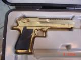 Desert Eagle/Magnum Research,50AE,Titanium Gold,high polished hand cannon,NIB,awesome showpiece !! - 1 of 15