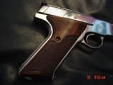 Colt Woodsman Match Target,1972,fully refinished in bright mirror nickel,22LR,heavy barrel,custom wood grips,adj site,awesome 1 of a kind showpiece !! - 4 of 15