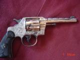 """Colt Army Special 32-20 WCF,5"""",fully refinished nickel & master engraved by A.LoPrinzi, made around 1922,94 years old-a 1 of a kind masterpiece !"""