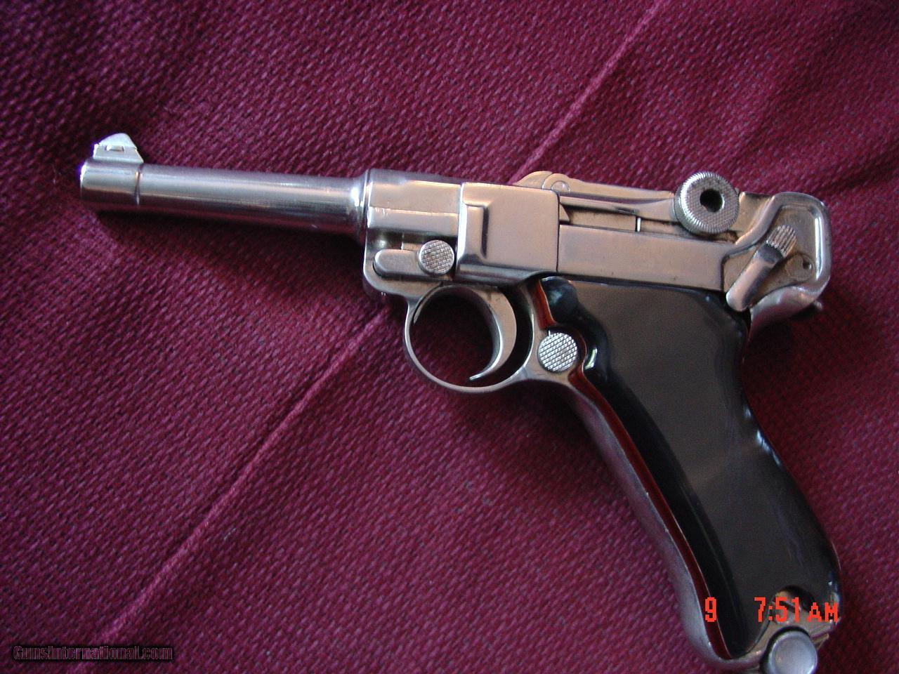 Luger-German circa 1923, 7 65 caliber [30] 3 1/2