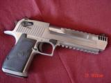 """Magnum Research Desert Eagle 50AE,6"""",rare all solid satin & mat stainless model with built in COMP.,never fired,box & all papers,a great lhand ca"""
