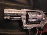 """Smith & Wesson 60-14,357mag,2.125"""", fully deep hand engraved & polished,by Flannery Engraving,Rosewood grips,never fired,box & papers,certificate - 6 of 15"""