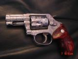 """Smith & Wesson 60-14,357mag,2.125"""", fully deep hand engraved & polished,by Flannery Engraving,Rosewood grips,never fired,box & papers,certificate - 1 of 15"""