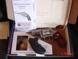 """Smith & Wesson 60-14,357mag,2.125"""", fully deep hand engraved & polished,by Flannery Engraving,Rosewood grips,never fired,box & papers,certificate - 12 of 15"""
