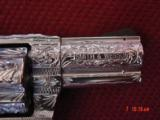 """Smith & Wesson 60-14,357mag,2.125"""", fully deep hand engraved & polished,by Flannery Engraving,Rosewood grips,never fired,box & papers,certificate - 2 of 15"""