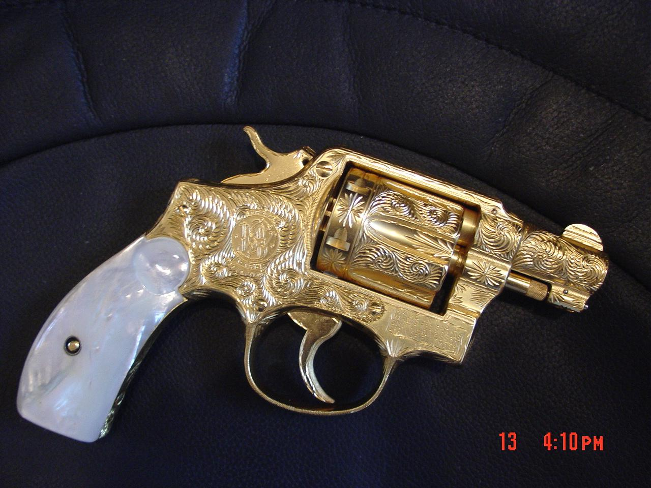 smith amp wesson pre model 10 24k gold plated fully