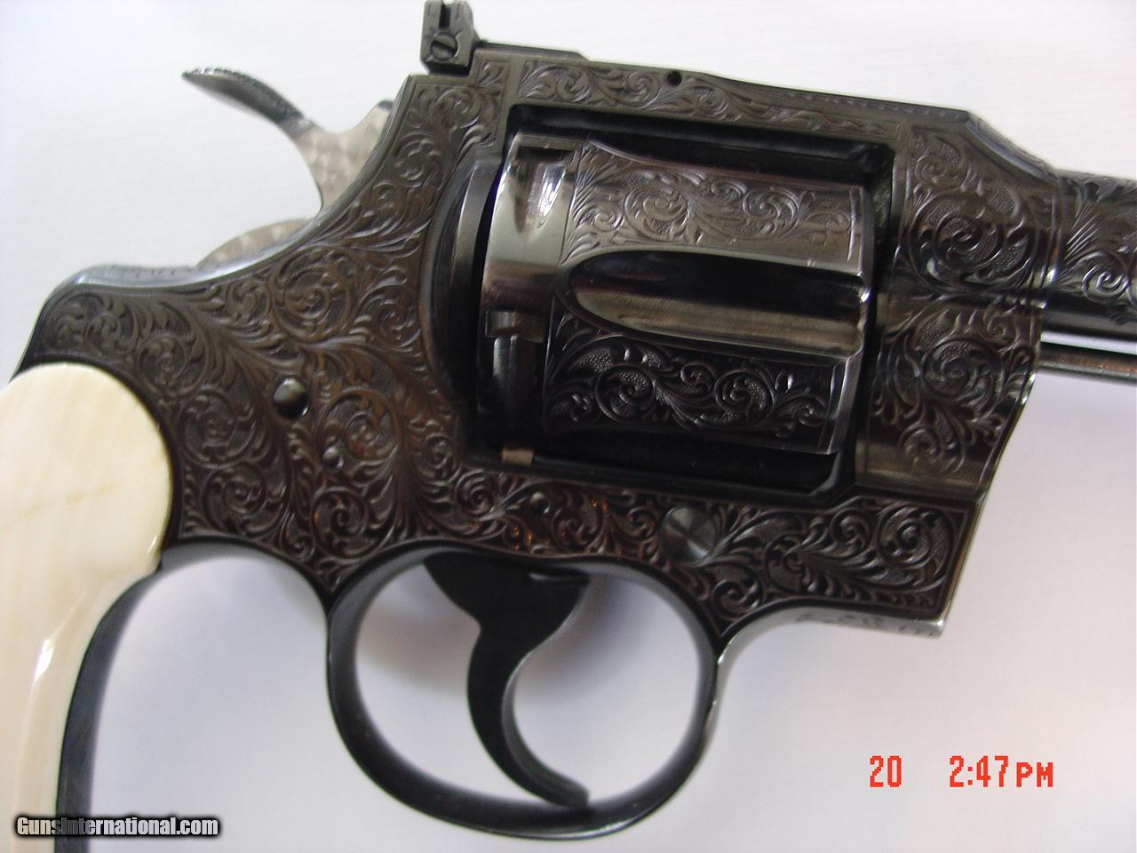 Colt Trooper 1967master Engraved Re Blued By Gsherwoodreal