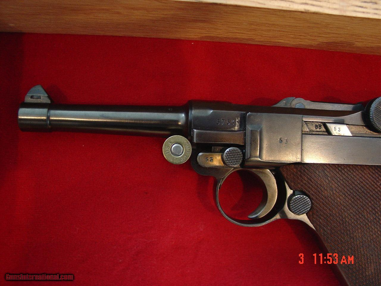 Luger Mannlicher 9mm,matching #s except magazine,possible