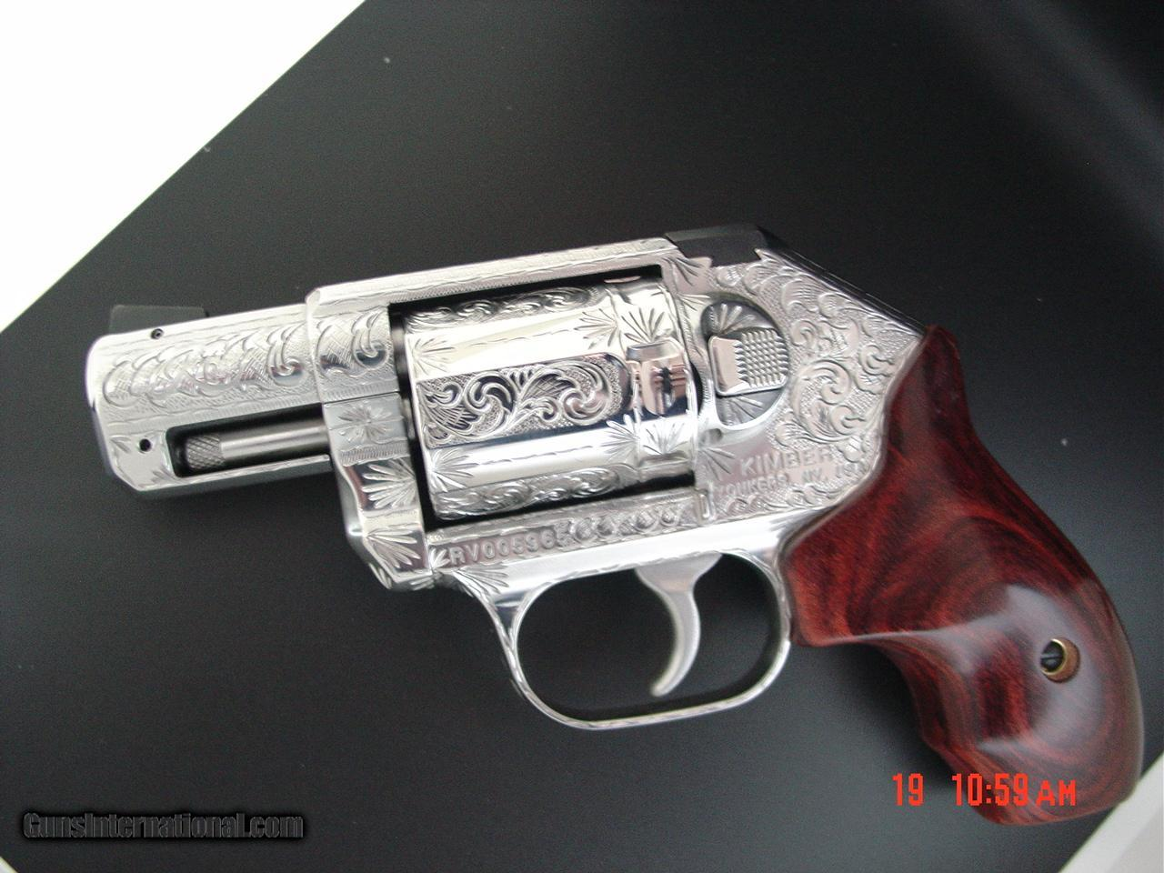 Kimber K6S revolver,fully hand engraved & polished by