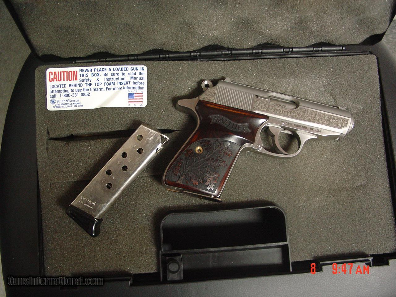 walther ppk s 1 of 400 premier 380 engraved with gold eagle