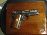 Colt Officers Commencement Issue,Silver engraved oak leaves & marine crests,fitted wood case, smooth walnut grips,#955,3 1/2