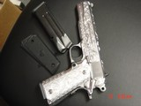 "Para Ordnance P16,40S&W,fully engraved by Flannery Engraving,engraved Alum.grips,certificate,5""manual & 2 mags,way nicer in person,work of art - 14 of 15"