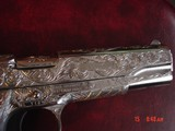 "Para Ordnance P16,40S&W,fully engraved by Flannery Engraving,engraved Alum.grips,certificate,5""manual & 2 mags,way nicer in person,work of art - 2 of 15"