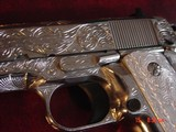 "Para Ordnance P16,40S&W,fully engraved by Flannery Engraving,engraved Alum.grips,certificate,5""manual & 2 mags,way nicer in person,work of art - 8 of 15"