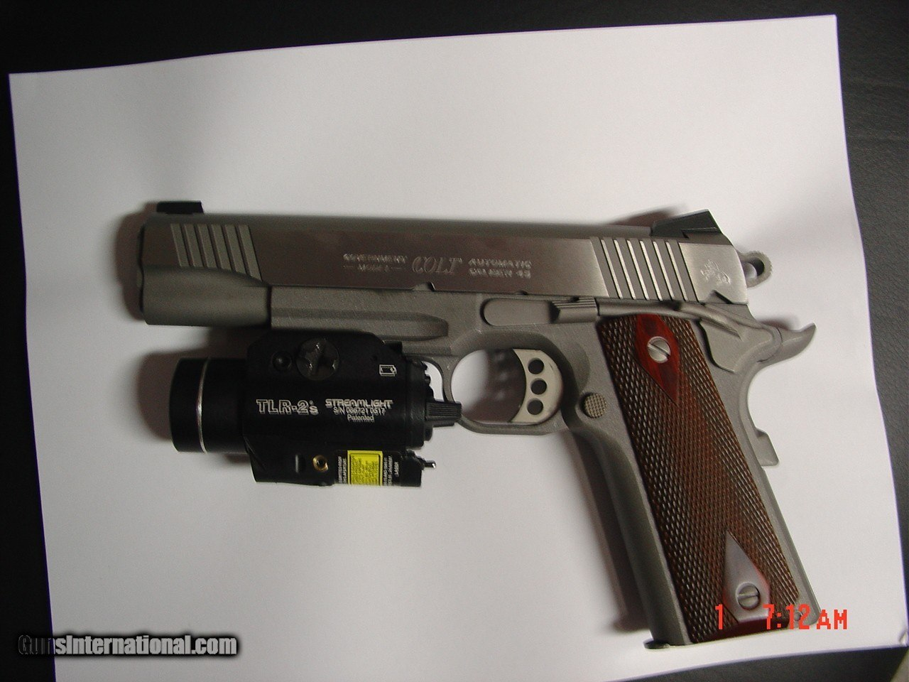 Colt Rail Gun, Government 45,Series 80 with Streamlight