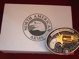 """North American Arms,Golden Eagle Ltd Edit. 24K gold plated,pearl grips,metal safe,22LR,1 1/8"""" barrel,manual,box,etc,5 shots,awesome rare revolver - 12 of 15"""