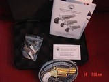 """North American Arms,Golden Eagle Ltd Edit. 24K gold plated,pearl grips,metal safe,22LR,1 1/8"""" barrel,manual,box,etc,5 shots,awesome rare revolver - 10 of 15"""