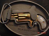 """North American Arms,Golden Eagle Ltd Edit. 24K gold plated,pearl grips,metal safe,22LR,1 1/8"""" barrel,manual,box,etc,5 shots,awesome rare revolver - 13 of 15"""