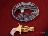 """North American Arms,Golden Eagle Ltd Edit. 24K gold plated,pearl grips,metal safe,22LR,1 1/8"""" barrel,manual,box,etc,5 shots,awesome rare revolver - 2 of 15"""