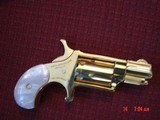 """North American Arms,Golden Eagle Ltd Edit. 24K gold plated,pearl grips,metal safe,22LR,1 1/8"""" barrel,manual,box,etc,5 shots,awesome rare revolver - 4 of 15"""