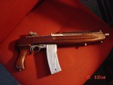 "Iver Johnson Super Enforcer 9"" barrel,M1Carbine pistol,nickel magazine,stainless action,wood stock with pistol grip,adj rear sight,wild look,30 c"
