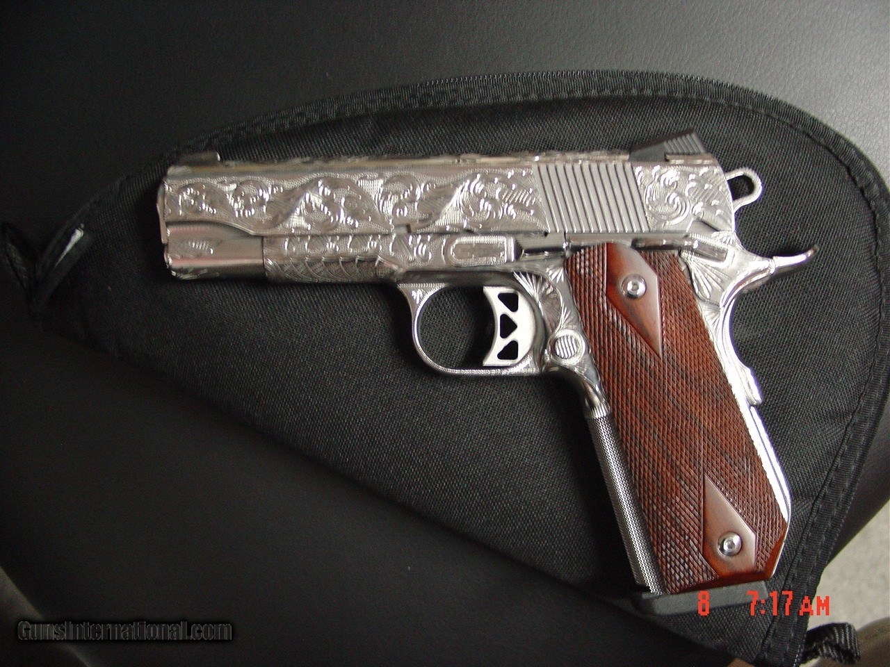 Dan Wesson 1911 Commander Bobtail 45acp,fully engraved & polished by